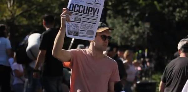 Paul – Zeitungsmacher bei Occupy Wall Street